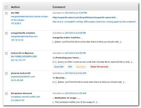 Cara Halang Spam Berbentuk Trackback