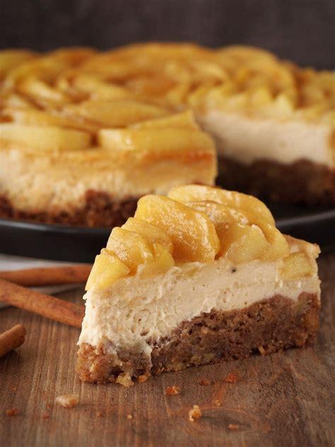 karamell cheesecake mit zimt aepfeln rezeptebuchcom