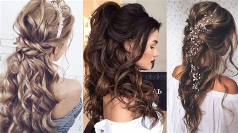Half Up Half Down Long Hair Wedding Hairstyles Wedding