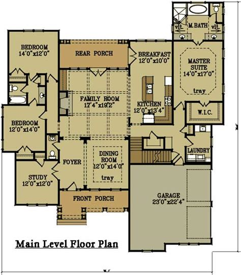 2 4 bedroom brick house plan by max fulbright designs