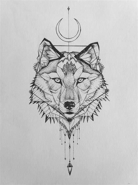 geometric wolf tattoo animal tattoos tatouage