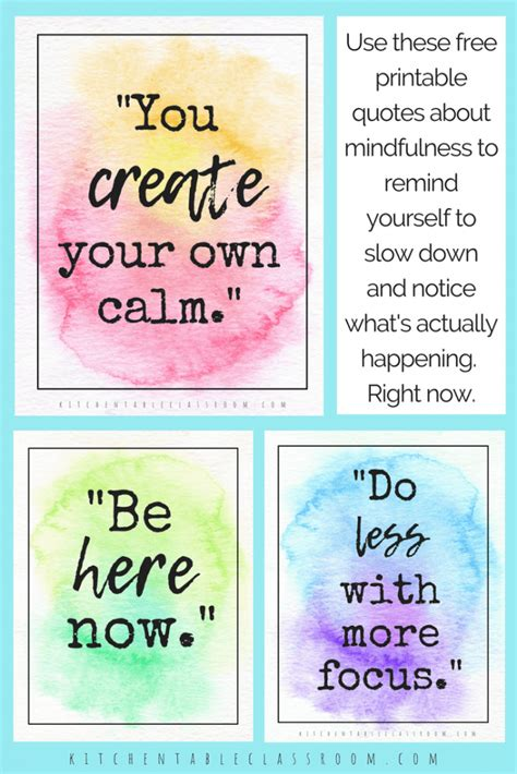 printable mindful quotes homeschool printables