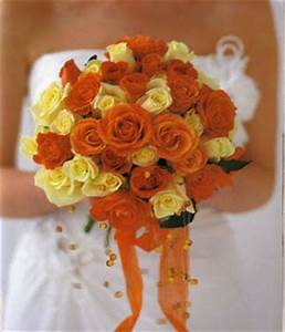 Bouquet Bridal: Orange and Yellow Roses Bridal Bouquet ...