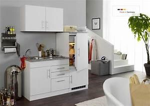 Single Einbauküchen Mit Elektrogeräten : single k che 160 cm wei mit einbauk hlschrank und sp lschrank ~ Markanthonyermac.com Haus und Dekorationen
