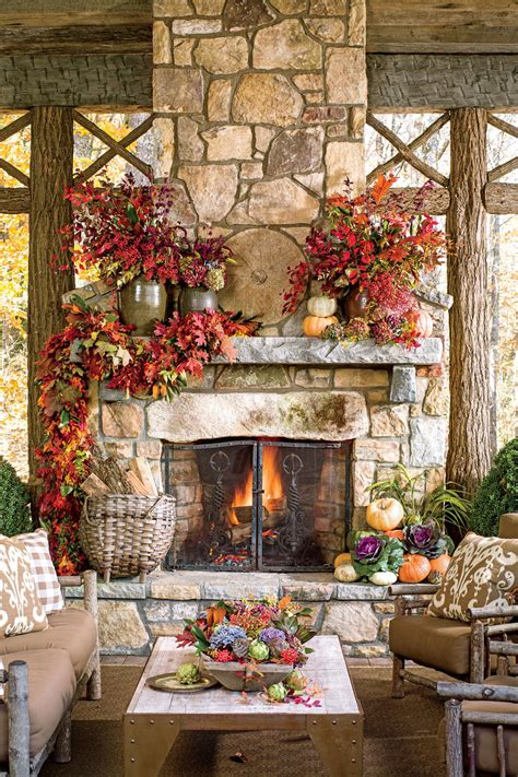 Fall Home Decor Ideas by 25 Fall Mantel Decorating Ideas Southern Living