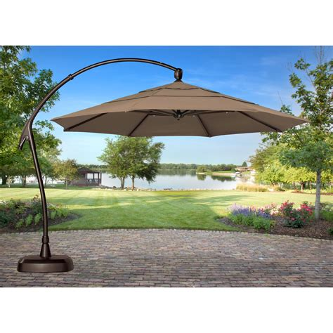 cantilever patio umbrellas treasure garden 11 ft cantilever offset patio umbrella