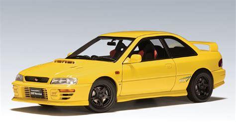 subaru autoart autoart subaru impreza wrx type r yellow 78611 in 1