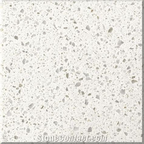 Artificial Quartz Stone White Pearl from China