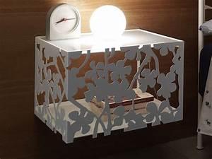Table De Chevet Suspendue : flower c table de nuit suspendue en fer en diff rentes couleurs sediarreda ~ Teatrodelosmanantiales.com Idées de Décoration