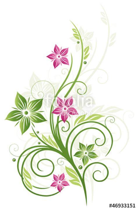 Muster Blumenranke Einfach by Quot Fr 252 Hling Frame Bl 228 Tter Blumen Ranke Gr 252 N Pink