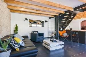 Deco Maison Industriel : r novation d 39 un salon dans une maison atypique au style ~ Teatrodelosmanantiales.com Idées de Décoration