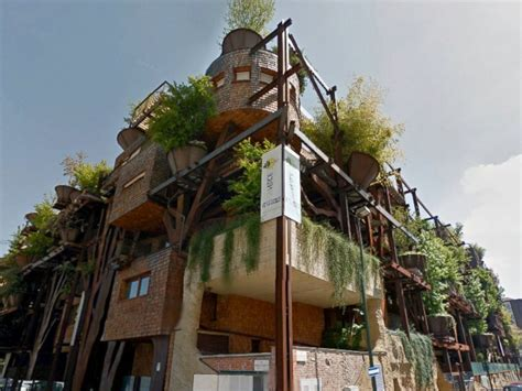 Treehouse Apartment Building In Italy Protects Residents