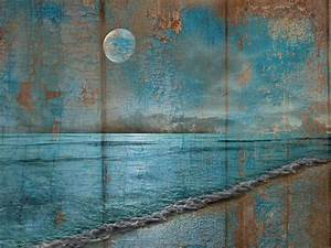 Rustic coastal wall art ocean beach theme bedroom