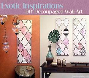 diy jali patterned decoupage wall art with a flair for the With what kind of paint to use on kitchen cabinets for islamic wall art frames