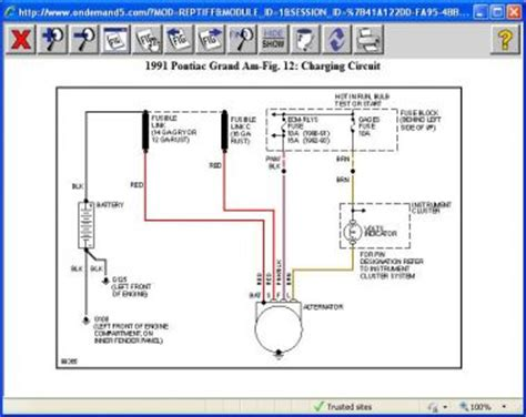 Pontica 3 Wire Alternator Diagram by 1991 Pontiac Grand Am Battery Wont Charge I A New