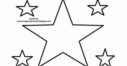Bintang Gambar Mewarnai Sketsa Bulan Untuk Dan