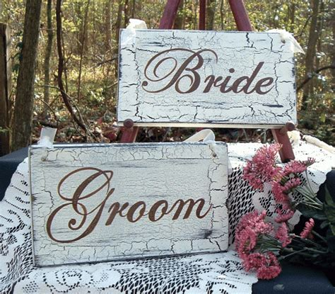 shabby chic wedding signs wedding signs bride groom shabby cottage vintage chic wood signs tcartsigns wedding on artfire