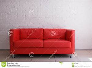 Red sofa and brick wall stock images image 6123694 for Brick red sectional sofa