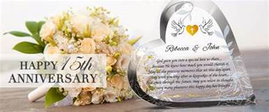 15th wedding anniversary custom engraved 15th wedding anniversary gifts central