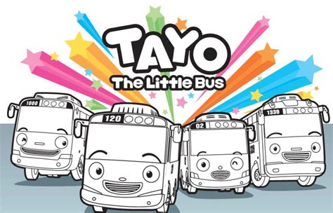 tayo   bus coloring pages daddy   city