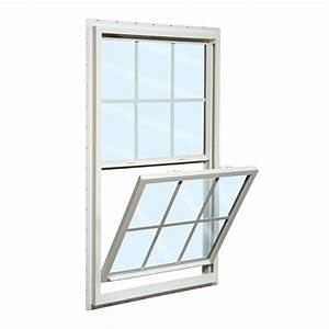 Shop reliabilt 150 vinyl double pane single strength new for Single hung window
