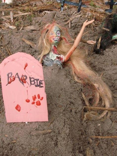 barbie zombie graveyard  barbie doll art  cut