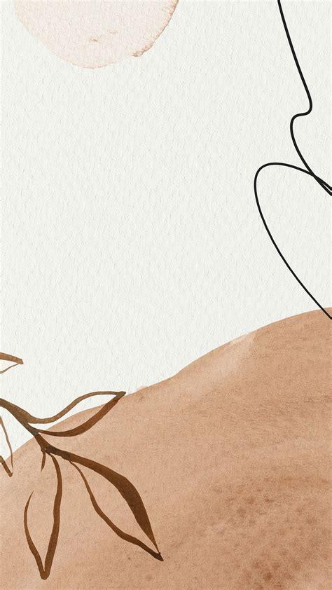 premium illustration of brown watercolor