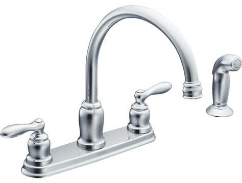 moen inc moen caldwell double handle kitchen faucet with