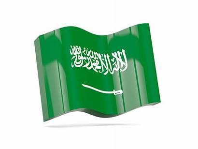 Saudi Arabia Icon Flag Illustration Wave Non