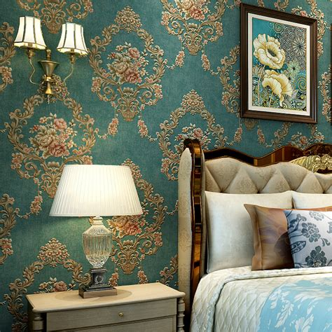 vintage  floral damask wallpaper retro flower design
