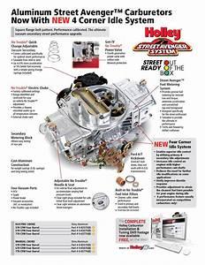 Carburetor  Holley 570 Cfm Street Avenger Aluminum  Vacuum