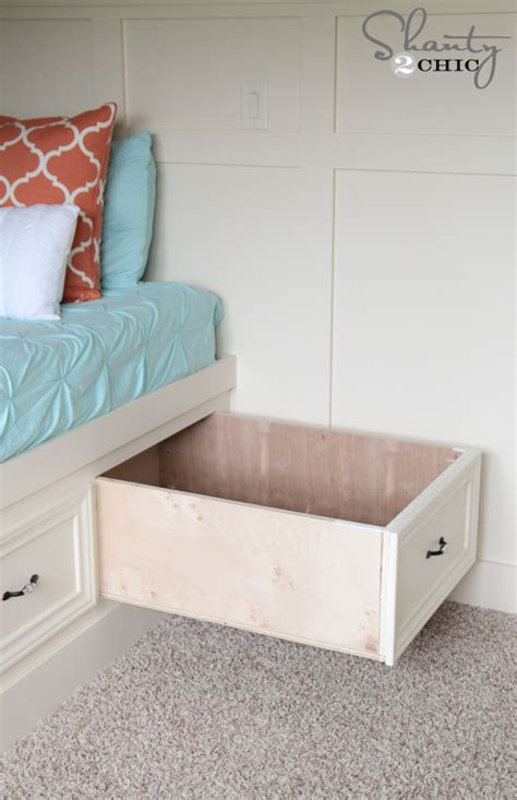 diy built  storage bed shanty  chic