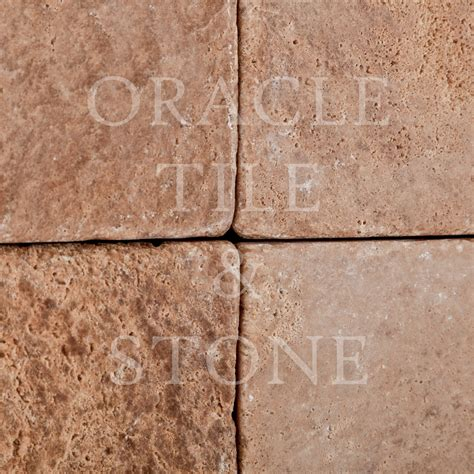 andean walnut travertine 6 x 6 field tile oracle tile
