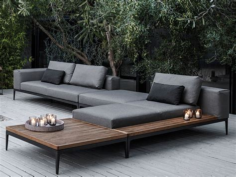 lounge sofa outdoor gloster grid sectional landscape outdoor lounge