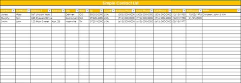 This excel template has two worksheet tabs, the contacts and setup tabs. 9+ Customer Contact List Templates in Word and Excel