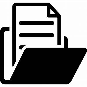 open folder with document icons free download With documents folder logo