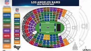 Coliseum Seating Chart Rams Los Angeles Rams Unveil Ticket Prices For 2016 Abc7 Com