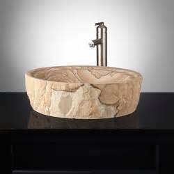 Sandstone Sinks by Sandstone Vessel Sink Chiseled Edge Bathroom