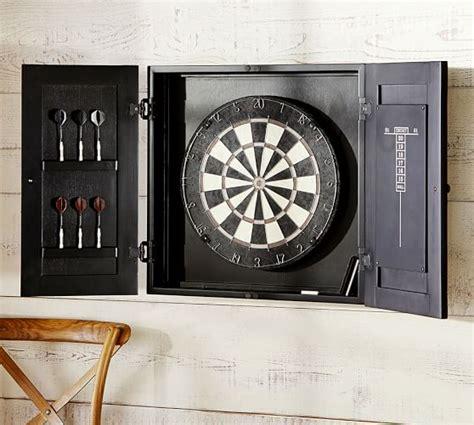 barn wood dartboard cabinet dartboard wood cabinet game set pottery barn