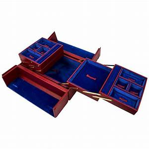 Tanner Krolle London Red Leather Jewelry Case New At 1stdibs
