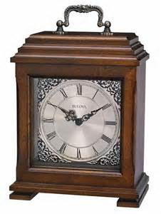 bulova b1532 document carriage style mantle clock the