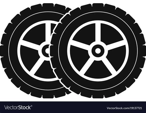 Car Tyre Icon Simple Style Royalty Free Vector Image