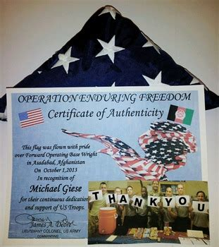 """Filled out a pink card (formally the flag flying fee card) to attach flags are flown every day except thanksgiving, christmas, and new year's day. Netafim Donates Mountain of Morale Boxes"""" to U.S. Troops ..."""