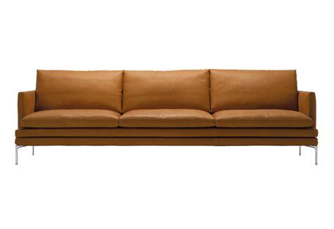 canapé cuir cognac 1330 william sofa by zanotta stylepark