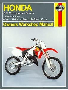 Honda Cr80  85r  Rb  Cr125r  Cr250r  Cr500r Repair Manual