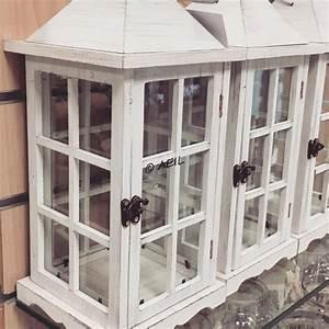 Lanterne Deco Interieur : lanterne chic en bois c rus e blanc et verre ~ Teatrodelosmanantiales.com Idées de Décoration