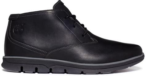 timberland bradstreet plain toe chukka boots in black for lyst