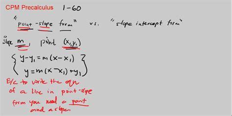 Point-slope Form Vs Slope-intercept