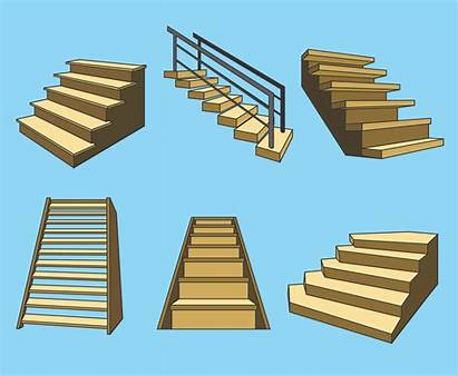 Stairs Vector Wooden Graphics Freevector Getdrawings