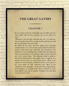 Classic Book Page F Scott Fitzgerald The Great Gatsby
